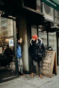 strangers exchanging goodbyes at kaffe 1668